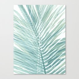 Abstract Palm Leaves | Mint Green Canvas Print