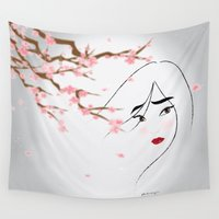 blossom Wall Tapestries featuring Blossom by AmadeuxArt