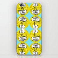 cassette iPhone & iPod Skins featuring Cassette by Molly Yllom Shop