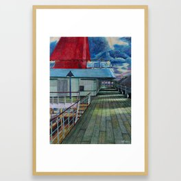 Veranda Deck Framed Art Print