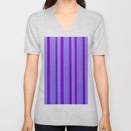 Stripes - Violet Unisex V-Neck