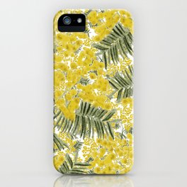 Yellow Mimosa iPhone Case