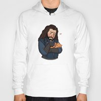 thorin Hoodies featuring Thorin and Kitten by Hattie Hedgehog