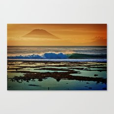 Indonesian Wave and Volcano Canvas Print