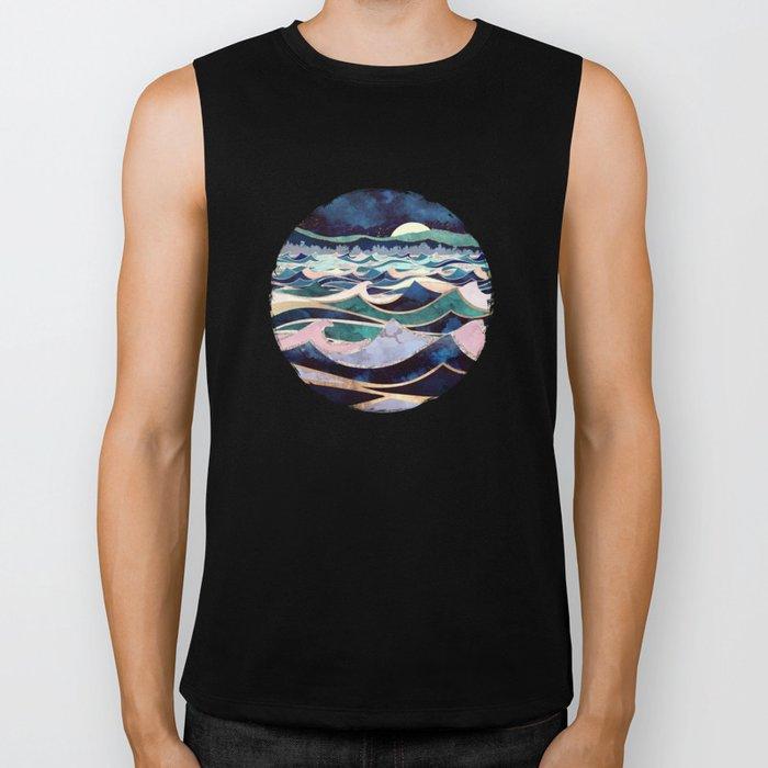 Moonlit Ocean Biker Tank