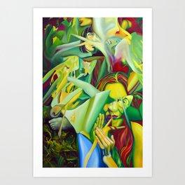 Escape To Fantasy, 120-80cm, 2016, oil on canvas Art Print