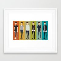 tegan and sara Framed Art Prints featuring Tegan and Sara: Sara collection by Cas.