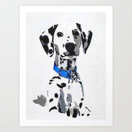 Winnie in blue Art Print