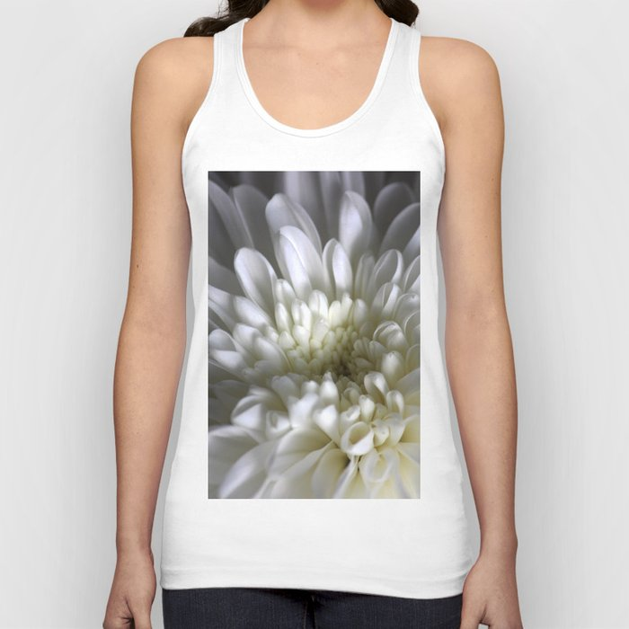 White Aster Unisex Tank Top