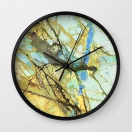Gold Flash Labradorite Wall Clock