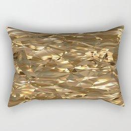 Golden Crinkle Rectangular Pillow