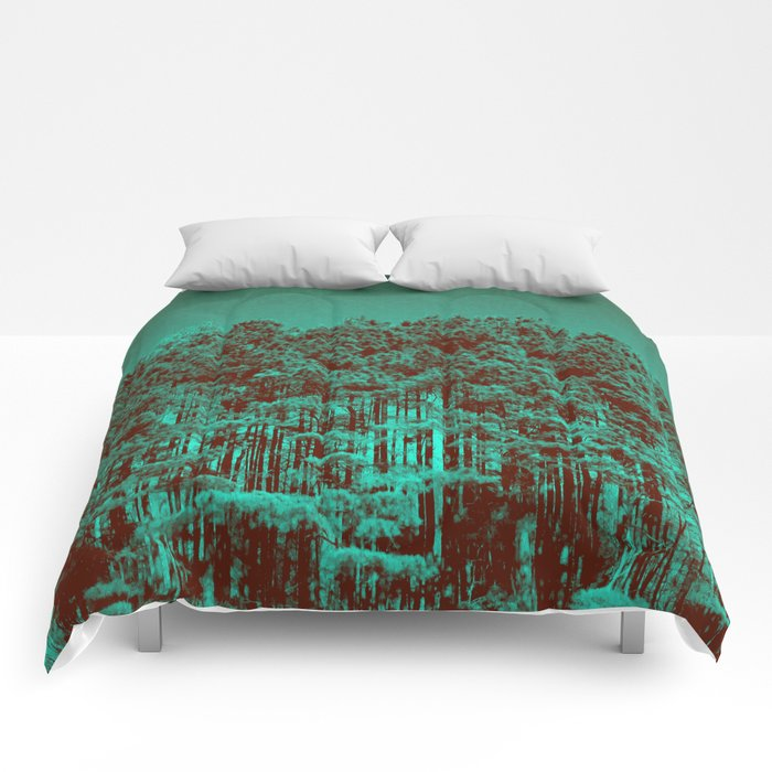 Minty Green Forest Comforters