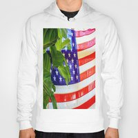 flag Hoodies featuring Flag by Jodi Kassowitz Photography