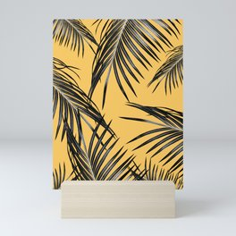 Black Palm Leaves Dream #6 #tropical #decor #art #society6 Mini Art Print