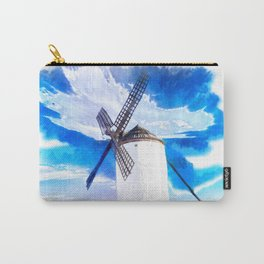 wind mill landscape digital aquarell aqstd Carry-All Pouch