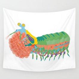 Robot Mantis Shrimp Wall Tapestry