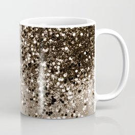 Sparkling Sepia Lady Glitter #1 #shiny #decor #art #society6 Coffee Mug
