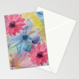 Watercolor hand paint floral design Stationery Cards