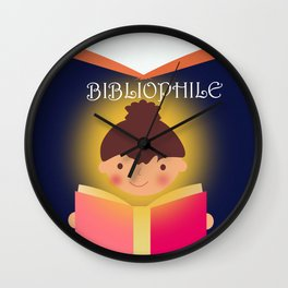 I am a Bibliophile Wall Clock