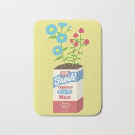 Milk Flowers Bath Mat