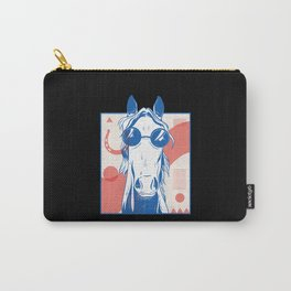 Funny Retro Vintage Horse Carry-All Pouch