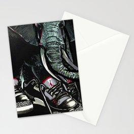 SNEAKER ELEPHANT Stationery Cards