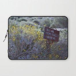 Sign Marking Trails At ... Wildlife Preserve Laptop Sleeve