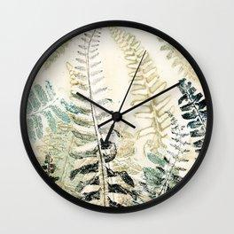 Wild Fern Wall Clock