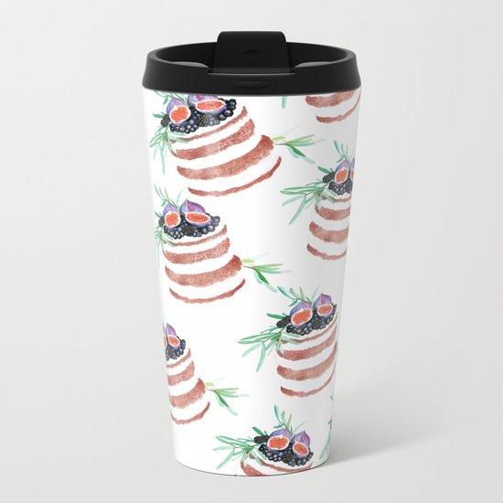 Fig cakes pattern Metal Travel Mug