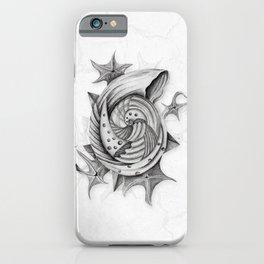 Dystopian Conch - Black & White iPhone Case