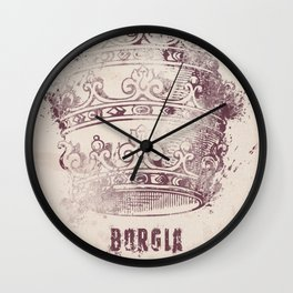 Borgia, tv series, alternative movie Poster, John Doman, Mark Ryder, Isolda Dychauk, Marta Gaslini Wall Clock