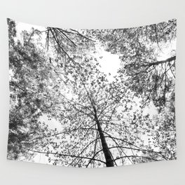 overhead, black and white Wall Tapestry