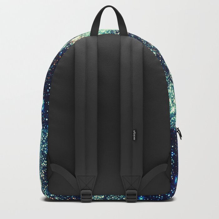 gAlAxY Stars Teal Turquoise Blue Backpack