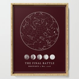 Magical Battle of Potter Star Map Serving Tray