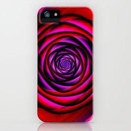 Fractal rose iPhone Case