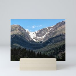 Snow on the mountain from Rocky Mountain National Park Mini Art Print
