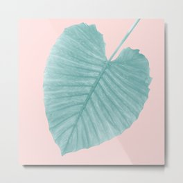 Love Leaves Evergreen Blush - Her #1 #decor #art #society6 Metal Print