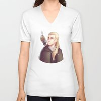legolas V-neck T-shirts featuring Greenleaf by Ryuutsu