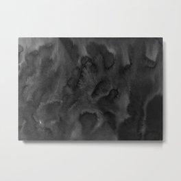 Black Ink Art No 1 Metal Print