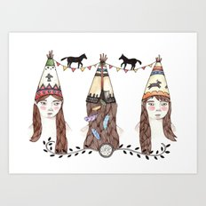 Tipi Party Art Print