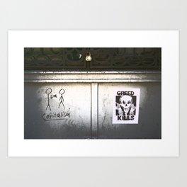 Capitalism kills Art Print