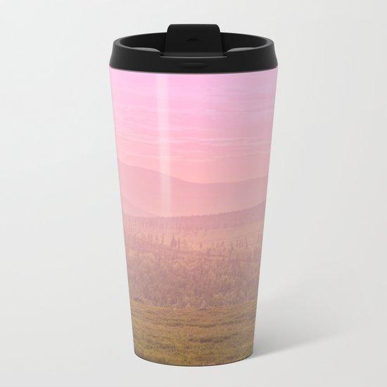 Pink Landscape - #society6 #buyart Metal Travel Mug