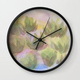 Green Lotus 2 Wall Clock