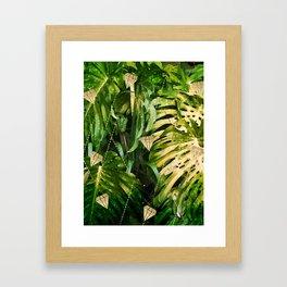 Leaf & gold Framed Art Print