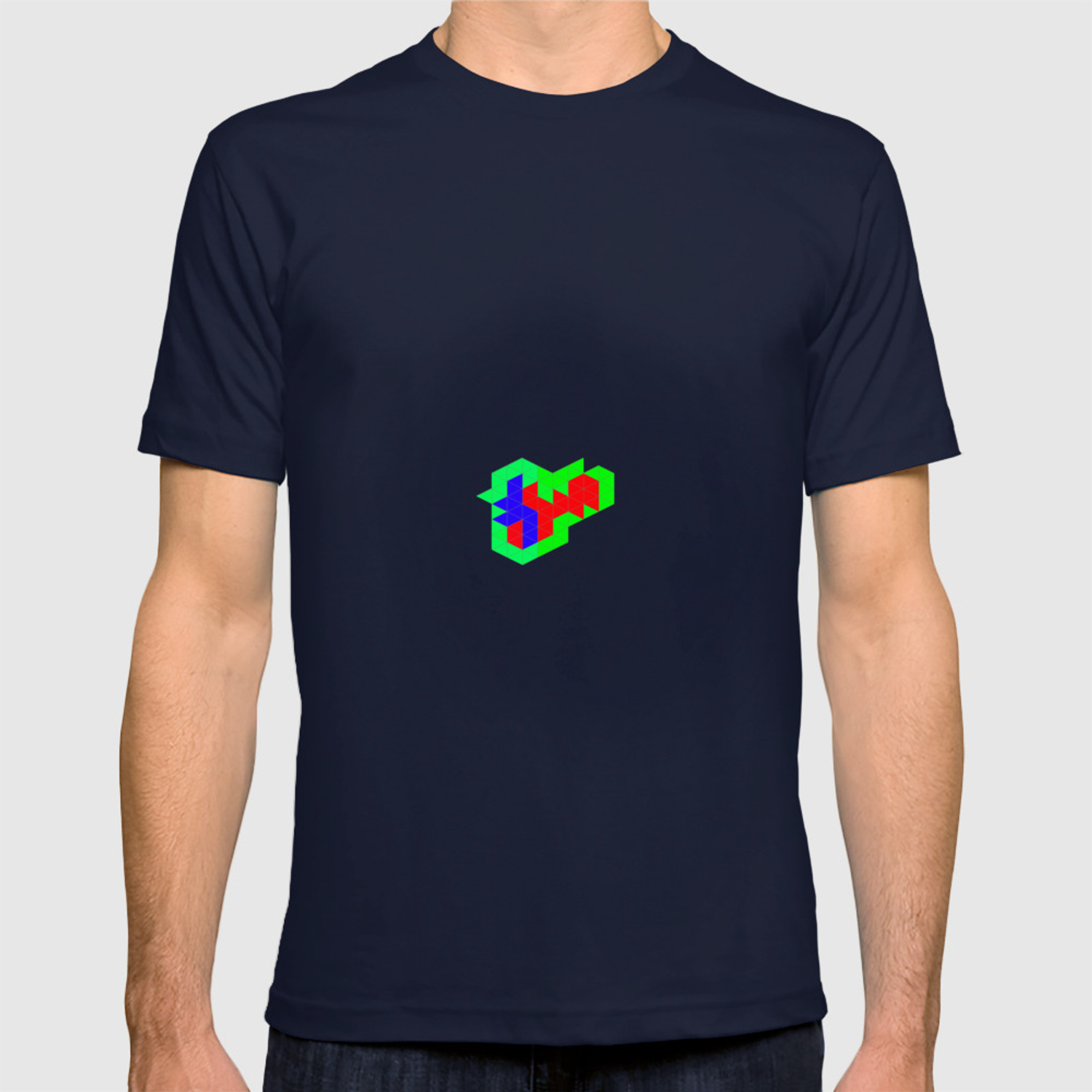 3c7153803 Cube Geometry Optical Illusion Puzzle T-shirt by at85productions | Society6