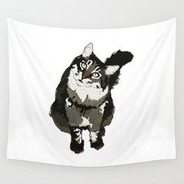 Cat Yellow Eyes Wall Tapestry