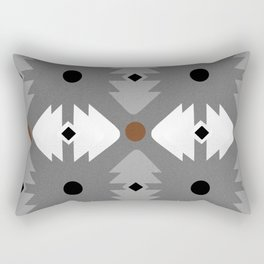 Modern Desert Fox Southwest Pattern Rectangular Pillow