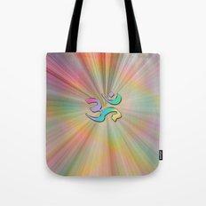 Rainbow Sunburst OM Tote Bag