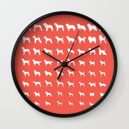 All Dogs (Coral) Wall Clock