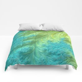 Tail Feather - Fractal Art Comforters